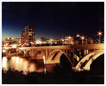 Drug Rehab Information for Saskatoon, seen here at night.